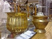 """2 BRASS PLANTERS, 3.5"""" AND 5.5"""" -"""